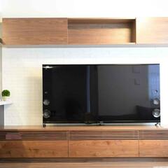ウォールナット/テレビボード/ルーバー ワイド3メートルのテレビボード。   テ…