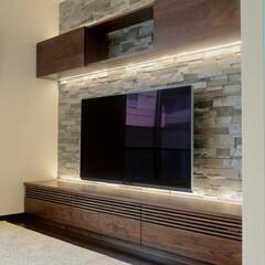 テレビボード/間接照明 waldenオリジナルのテレビボード。 …(1枚目)
