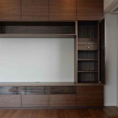 壁面収納/オーダー 壁一面では無く、抜けた部分を作り、全体の…