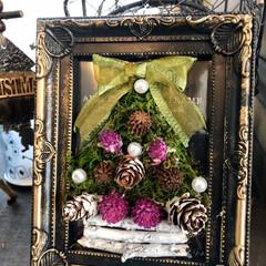 オーナメント/松ぼっくり/クリスマス2019/リミアの冬暮らし/雑貨/ハンドメイド/... ①朝チョコポン💕さんが作ってるのを見て私…