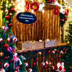 ツリー/クリスマス/おでかけ 先日のヤフオクドームに行った時、隣のホテ…(2枚目)