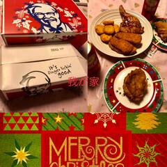 ピスタチオ/おうち/クリスマス/グルメ/フード/スイーツ/... 昨日はお家でパパと2人でケンタッキー🎄 …