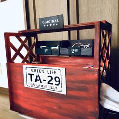 ハンドメイド/スイーツ/DIY/雑貨/100均/セリア/... ベッドの枕側☝️ 手の届く場所に何かとご…