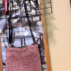 ウサギ/バッグ/編み物/ペット/100均/雑貨/... 昨日から編んでたバッグが出来上がりました…