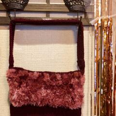 編み物/キャンドゥ/ダイソー/ハンドメイド バッグ編み上がりました~🎶 なかなか好み…
