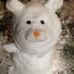 くま/雪だるま/雪 くま雪だるま⛄️