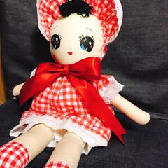 文化人形 文化人形ちゃんを 見よう見まねで作りまし…