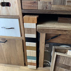 端材処理/端材/端材DIY/woodPro/隙間収納/収納/... 家にある端材と woodproさんで頂い…