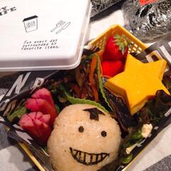 キャラ弁/おべんとう 先日の三男くんのお弁当♬ ころせんせー😀…