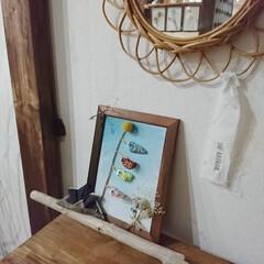 漆喰/ドライフラワーのある暮らし/100均リメイク/100均DIY/DIY女子/ペイントを楽しむ/... 家の敷地にある、石等を使ってストーンアー…