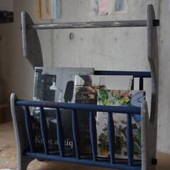 DIY/雑貨/インテリア/家具/住まい/収納/... エイジングとクラッキング塗装を施したマガ…