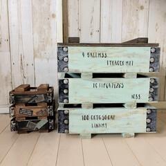 木箱リメイク/ウッドボックス/ミニミニ弾薬箱/男前インテリア/なんちゃって弾薬箱DIY/インテリア/... 先日作った物のミニミニバージョンが欲しく…(3枚目)