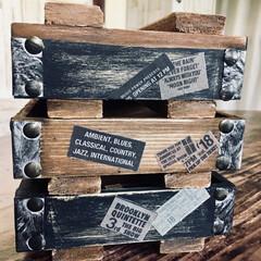 木箱リメイク/ウッドボックス/ミニミニ弾薬箱/男前インテリア/なんちゃって弾薬箱DIY/インテリア/... 先日作った物のミニミニバージョンが欲しく…