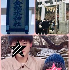 金運アップ/金蛇水神社/初詣/お正月2020/おでかけ 金蛇水神社に初詣。 蛇石をお財布で撫でて…
