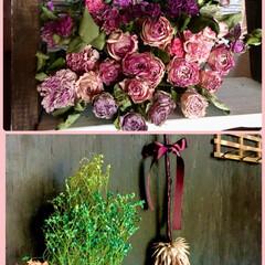 ドライフラワーを楽しむ/波トタン/ラダーシェルフ/和室リノベ/薔薇色々ドライ/薔薇/...