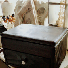 グラインダーで塗料剥がし/ジュエリーボックスDIY/DIY/雑貨/インテリア/収納/... だいぶ昔に作ったジュエリーボックス。奇抜…