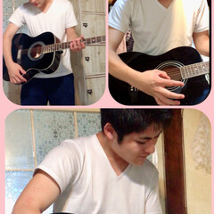 もうすぐ18歳/ギター初心者/アコースティックギター/息子誕プレ/セリア/100均/... もうすぐ18歳になる息子……誕生日プレゼ…