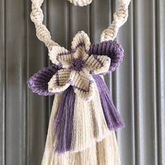 TAKAちゃんの手仕事/マクラメ編み/マクラメ編みしめ縄リース/リミアの冬暮らし/暮らし TAKAちゃんにオーダーして作って頂いた…