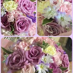 平成最後の誕生日プレゼント/誕生日プレゼント/生花ブーケ/春のフォト投稿キャンペーン/フォロー大歓迎/春/... 誕生日プレゼントに頂いた生花のブーケです…