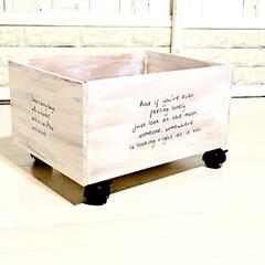 キャスター付きウッドボックス増産/ウッドボックスDIY/DIY/雑貨/100均/ダイソー/... キャスター付きウッドボックスを増産中😊 …