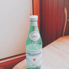 サンペレグリノ/ミネラルウォーター/ボトル/ラベル お友達に戴いたサンペレグリノのミネラルウ…