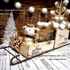 100均/セリア/DAISO/100均リメイク/ハンドメイド/クリスマス/... 100均アイテムだけで サンタさんのそり…