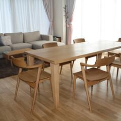 ダイニングテーブル/熱い男が作るダイニングテーブル/ナラ材/ビッグサイズ/ダイニングルーム/ダイニングセット 『熱い男が作るナラのダイニングテーブル』…