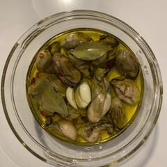 おつまみ/牡蠣のコンフィ/常備食/暮らし 乾煎りして漬けるだけ