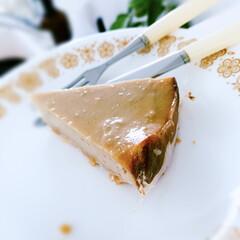 豆乳ヨーグルトのヴィーガンチーズケーキ/ステイホーム/グルテンフリー/白味噌/酒粕 横の紙がくっついてしまう… どうしたら良…