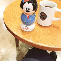 限定/ミッキーマウス/ミッキー/コーヒー/タリーズ/タリーズコーヒー evian限定ボトル🌸 パイロットミッキ…