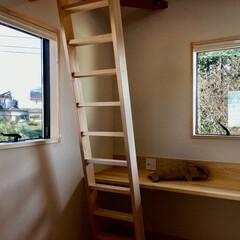 子供部屋/ミニマルな子供部屋/造り付けカウンター机/ロフト/ロフトベッド/風通しの良いロフト/... 造り付けで作成したカウンター机とロフトが…