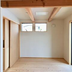 自然素材の家/子供部屋/子供室/子供室間仕切り/造り付け収納/造作収納/... 将来造作収納で間仕切りできる子供部屋 隣…