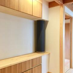 自然素材の家/平家の自然素材の家/平家の別荘/別荘建築/富士急山中湖畔別荘/別荘建築設計/... キッチン横の造り付けで作成した食器棚です…