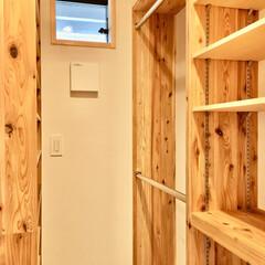 シューズクローク/シューズクローゼット/ウォークインクローゼット/玄関続きのシューズクローク/造り付け収納/靴収納/... 玄関続きのシューズクローゼットです。  …