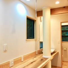自然素材の家/ソーラーシステムそよ風/土間/薪ストーブ/ウッドデッキ/珪藻土/... 富士山一望の土間に薪ストーブがある自然素…