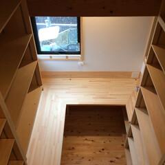 自然素材の家/書斎/在宅ワーク/在宅ワークスペース/テレワークスペース/リモートワークスペース/... 家事コーナーとリビングに隣接した書斎です…