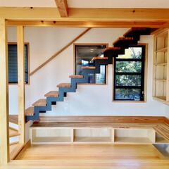 自然素材の家/ソーラーシステムそよ風/ビルトインガレージ/土間/薪ストーブ/シューズクローゼット/... ビルトインガレージと土間に薪ストーブがあ…