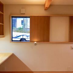 自然素材の家/平家の自然素材の家/ソーラーシステムそよ風/在宅ワークスペース/リモートワークスペース/テレワークスペース/... 山中湖畔別荘地の太陽熱で床暖房するソーラ…