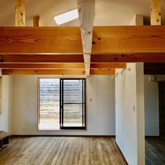 自然素材の家/二世帯住宅/離れ/2階リビング/在宅ワークスペース/書斎/... 自然素材でたてた2階リビングの離れの二世…