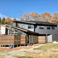 自然素材の家/薪ストーブ/ソーラーシステムそよ風/土間/ウッドデッキ/湿気対策/... 自然素材で建てたソーラーシステムそよ風の…