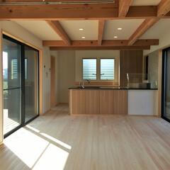 自然素材の家/ソーラーシステムそよ風/二世帯住宅/中庭/ウッドデッキ/バックヤード/... 自然素材でたてたウッドデッキの中庭がある…