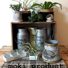 ガーデン雑貨/ブリキ雑貨/バケツ/プランター/シャビー/錆/... 五月追加商品☆ガーデン雑貨でグリーンを飾…