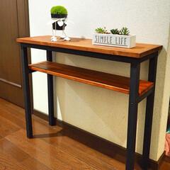 棚/DIY/バターミルクペイント/BRIWAX/コンソールテーブル/ダイソー コンソールテーブルをDIY。