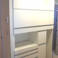 キッチン収納棚 キッチン収納棚を製作しました。 上部棚は…