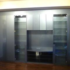 TV収納棚/壁面収納/メタカラー/メラミン TV壁面収納を製作致しました。 メタカラ…