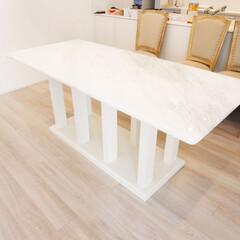 ダイニングテーブル 大理石のダイニングテーブルを製作致しまし…
