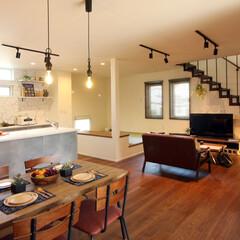 おしゃれ照明/ランプ/ダウン/アイアン/レール型照明/インダストリアル/... インダストリアルな室内空間をおしゃれな照…