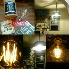 廃材/チョークアート/ムーミン/リビング/LED SWAN BULB/LED電球/... 照明コンテストで受賞したLED電球を装着…