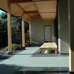 建築/住まい/和風建築/和風/玄関/アプローチ/... 和風二世帯住宅 H邸 アプローチ