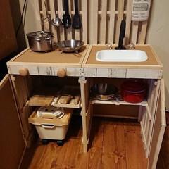 ままごとキッチンDIY 色んな方のアイデアを参考に、初めてままご…